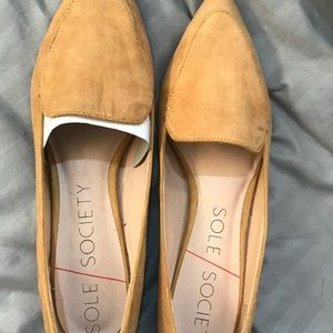 Tan Suede Flats